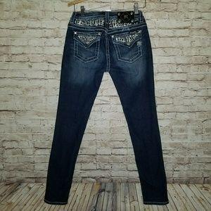 Miss Me Skinny Stretch Jeans Flap Pocket size 27